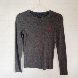 [Ralph Lauren] gray long sleeved tee Small